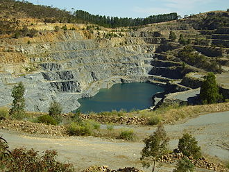 Quarry - An abandoned construction aggregate quarry near Adelaide, South Australia