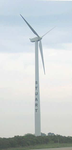 Stuart, Iowa - Wind turbine outside Stuart