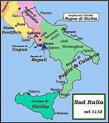 Il ducato autonomo di Napoli, formalmente provincia bizantina sopravvissuta fino al 1139