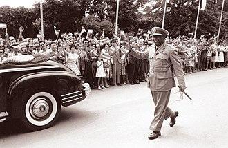 Ibrahim Abboud - Ibrahim Abboud during his visit to Yugoslavia, July 1960