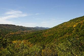 Sugar Creek Vista Overlook - View from the overlook