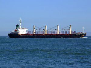 Sujitra Naree p2 approaching Port of Rotterdam, Holland 04-Aug-2007.jpg