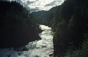 Suldalslågen - View of the river