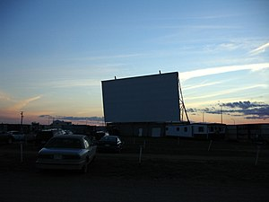 English: The screen of the Sundown Drive-In Th...