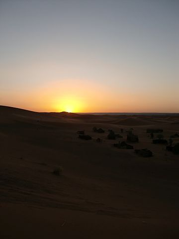 Image result for sunrise over desert