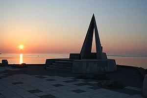 Sunset_of_Cape_Soya(宗谷岬の日没),北海道稚内市で撮影