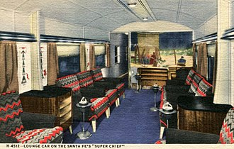 Super Chief - The observation car's lounge