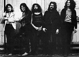 Supertramp - Supertramp in 1971 From L-R: Roger Hodgson, Frank Farrell, Rick Davies, Kevin Currie, Dave Winthrop