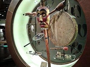 Suquamish Museum - Suquamish ritual paraphernalia on display at the Suquamish Museum in 2014