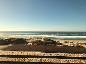 Surf, California - Surf Beach as seen from the Amtrak Pacific Surfliner