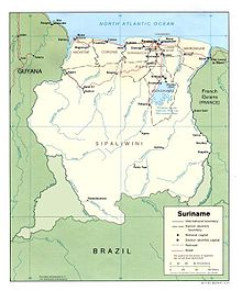 Surinam World Map.Suriname Wikipedia