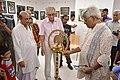 Susanta Banerjee Lighting Inaugural Lamp - 43rd PAD Group Exhibition Inauguration - Kolkata 2017-06-20 0347.JPG