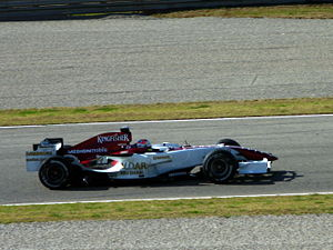 Spyker F8-VII - Adrian Sutil testing for Force India in January 2008.