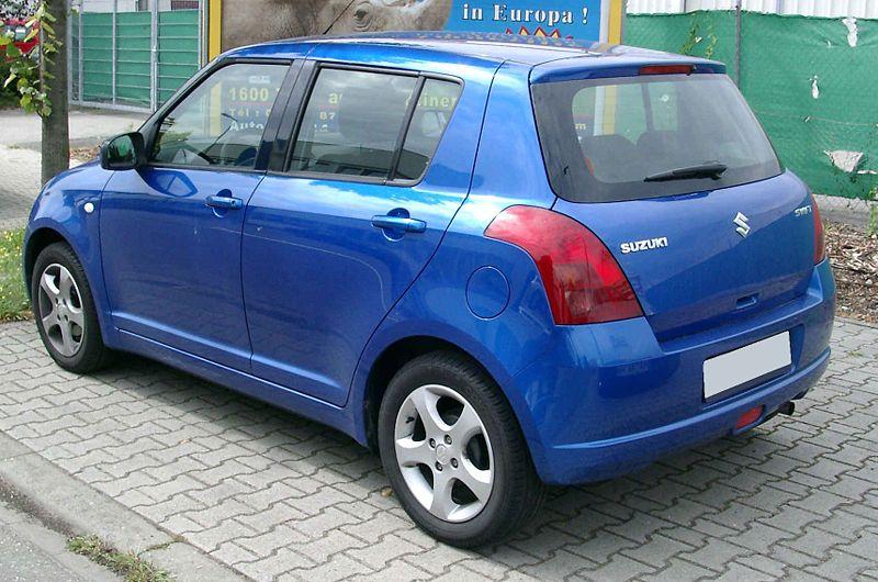 Swift or Vitz - which is a better option - 800px Suzuki Swift rear 20080822