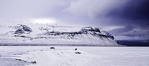 Svalbard Satellite Station - SvalSat with Svalbard Airport, Longyear in the front