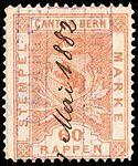 Switzerland Bern 1880 revenue 60rp - 14F.jpg