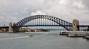 Sydney Harbour Tunnel - Alterations to the northern end pylons of the bridge were required in order to build the tunnel.