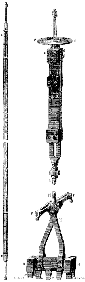 T4- d592 - Fig. 382, 383 — Tige de suspension - Trépan avec son déclic.png