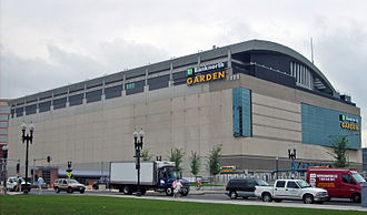 TD Garden - Then-TD Banknorth Garden taken from new Rose Kennedy Greenway, June 2007