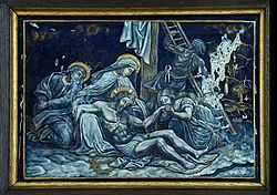 THIRTEENTH STATION Jesus is taken down from the Cross and given to his Mother.jpg