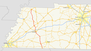 Tennessee State Route 5 - Image: TN 5 map