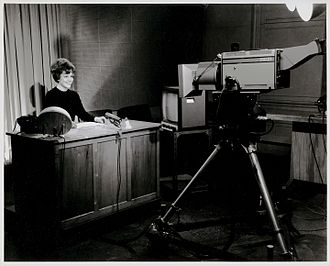Television in New Zealand - New Zealand Broadcasting Corporation (NZBC) filming in one of its studios, circa 1960s.