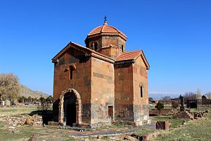 Talin, Armenia - The small church of Talin Cathedral, consecrated in 689
