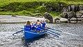 Tambar, a 20 feet Faroese wooden boat, belonging to the rowing club Róðrarfelagið Knørrur. Photo by Ólavur Frederiksen, July 21, 2019.jpg