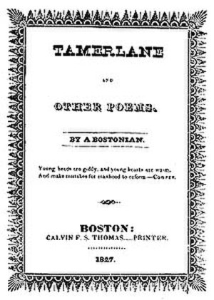 Edgar Allan Poe bibliography - Tamerlane and Other Poems (1827)