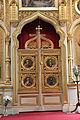 Tampereen ortodoksinen kirkko sisältä 13 ikonostaasin Pyhä portti.JPG