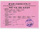 Taoyuan Metro A12 single journey ticket receipt 20171024.jpg