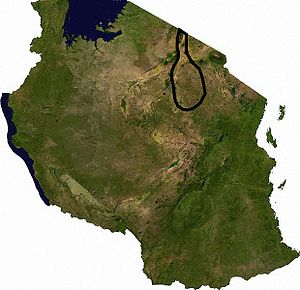 Tarangire Ecosystem - Approximate outline of the Tarangire Ecosystem in northern Tanzania