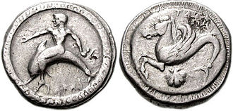 Greek coinage of Italy and Sicily - Coins of Taras (modern Taranto) from the 5th century BC
