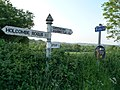 Taunton Deane , Signpost and Hedgerow - geograph.org.uk - 1332691.jpg
