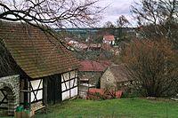 Tautendorf (Thüringen), view from the church hill.jpg