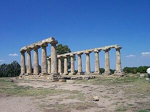 Magna Graecia - Image: Tavole palatine Hera temple