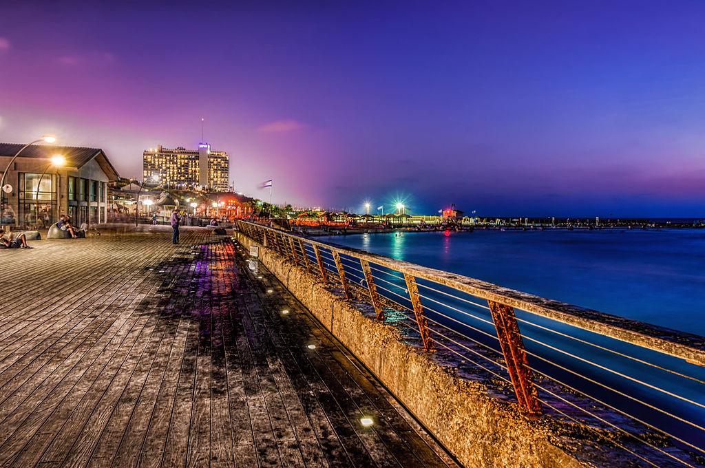 blue and violet sky