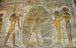 Temple of Derr - Relief of Ramesses II in the temple of Derr