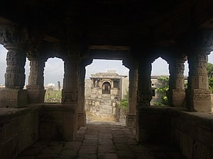 Rama Lakshamana Temple, Baradia - Image: Temple of Rama Laxman, View from Inside