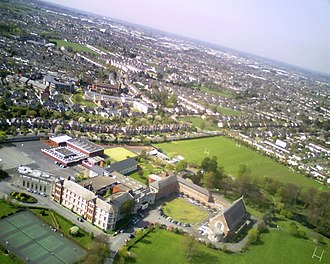 Terenure College - Terenure College in foreground with Templeogue and Kimmage in background