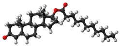 Testosterone undecanoate molecule ball.png