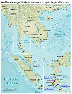 Thai Canal Proposed canal