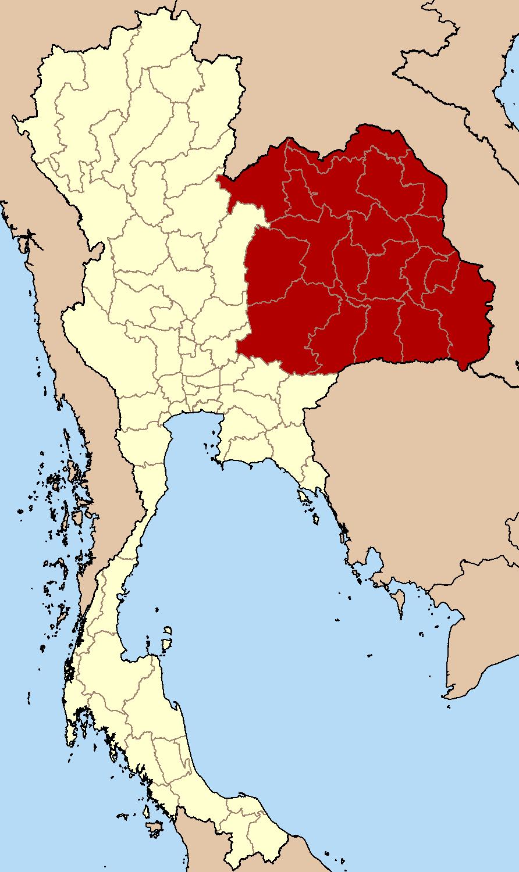 Northeastern Region in Thailand
