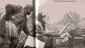 Thalia Flora-Karavia - Thalia Flora-Karavia sketching on the Balkan front, 1912–13