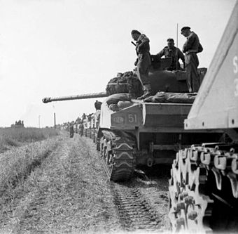 The Polish 1st Armoured Division in the Normandy Campaign, 1944. The 1st Polish Armoured Division in the Normandy Campaign 1944 B8826.jpg