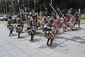The African tranditional dance in Dar es Salaam.