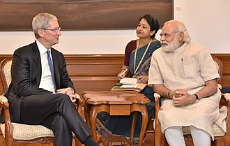Tim Cook - Cook with Indian Prime Minister Narendra Modi in New Delhi