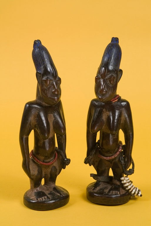 The Childrens Museum of Indianapolis - Female ere ibeji twin figure pair