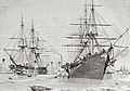 The Converted Warships HMS 'Agamemnon' And USS 'Niagara' Taking Aboard Cable To Lay For The Transatlantic Telegraph.jpg