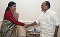 The Defence Minister of Nepal, Smt. Bidya Devi Bhandari calls on the Defence Minister, Shri A. K. Antony in New Delhi on July 21, 2009.jpg